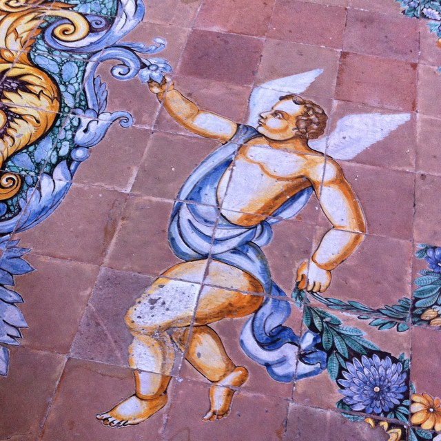 More details from the decorative ceramic tile floor in the Duomo of Scala. #amalficoast #fromwhereistand