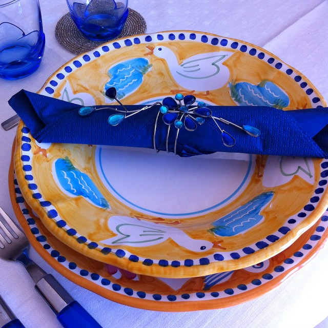 Colorful plates from Vietri sul Mare. #amalficoast