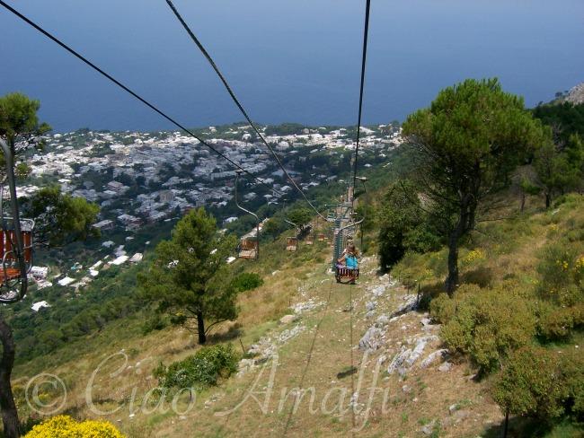 Amalfi Coast Travel Capri Chairlift Monte Solaro Anacapri