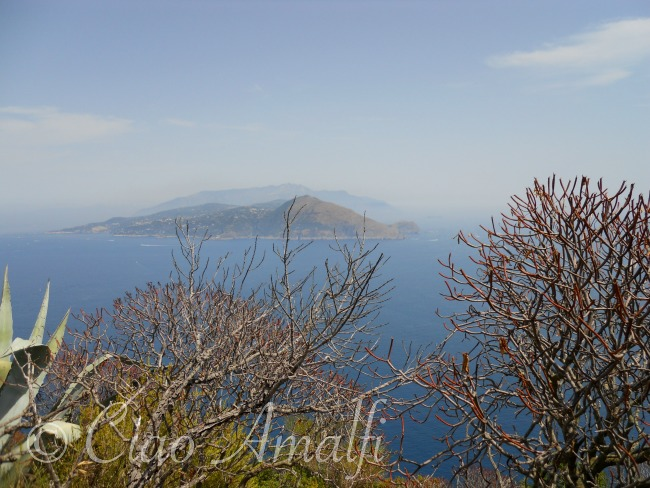 Amalfi Coast Travel View of the Sorrento Peninsula from Villa Jovis