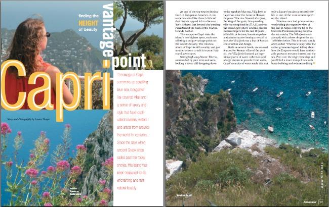 NIAF Ambassador Capri Article by Laura Thayer