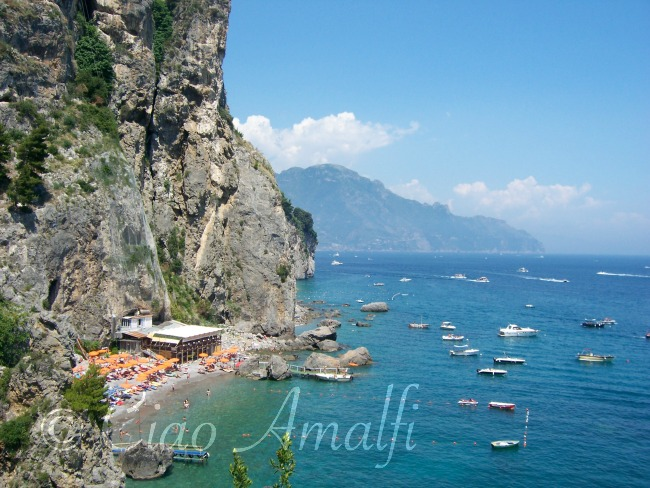 Amalfi Coast Beaches Santa Croce Beach Near Amalfi - Horizontal