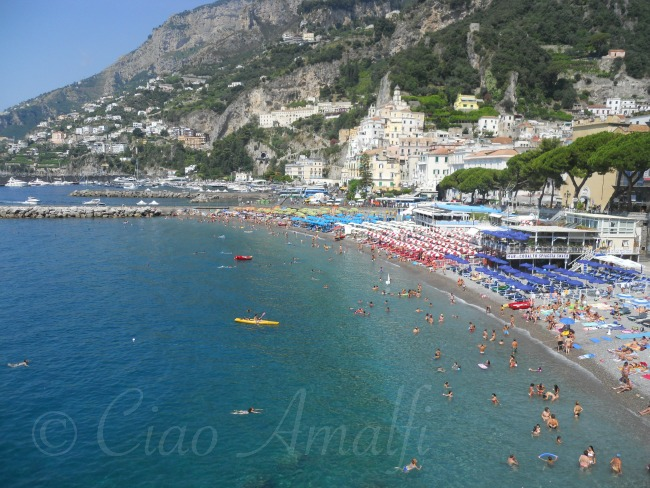 Amalfi Coast Beaches Swimming at the Marina Grande Beach in Amalfi