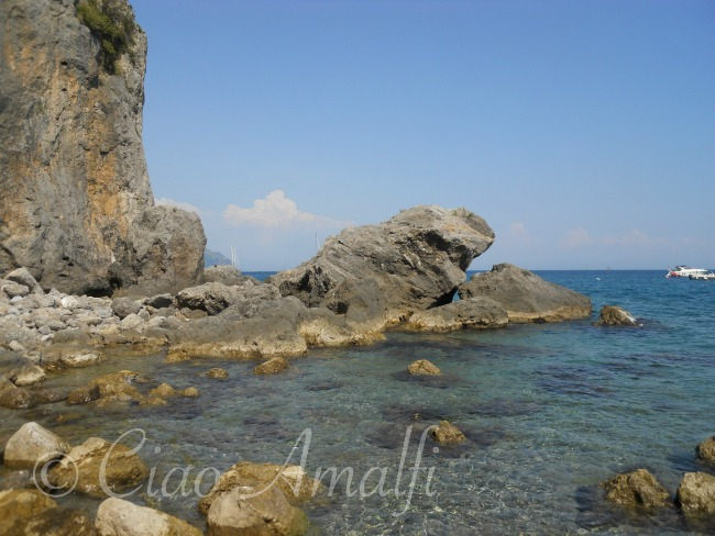 Beautiful Sea at Santa Croce Beach Near Amalfi