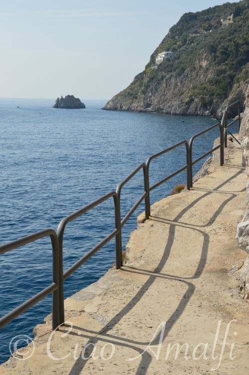 Amalfi Coast Travel Praiano Walkway by the Sea