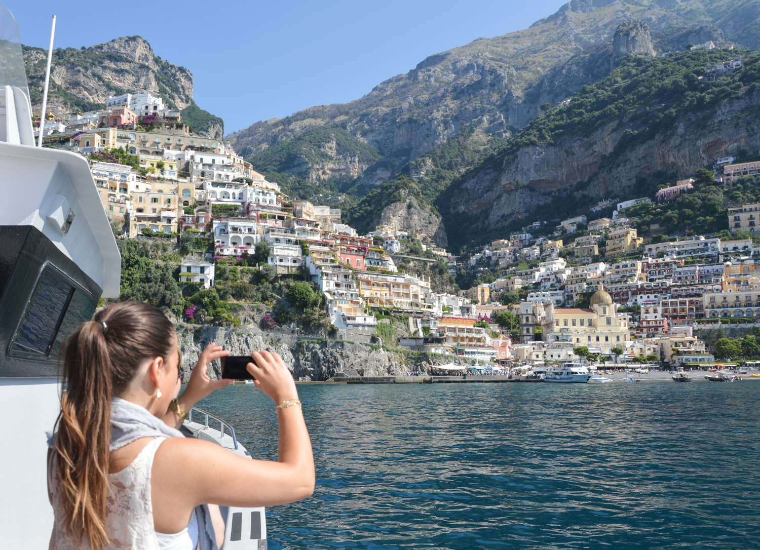 Taking the Ferry to Positano