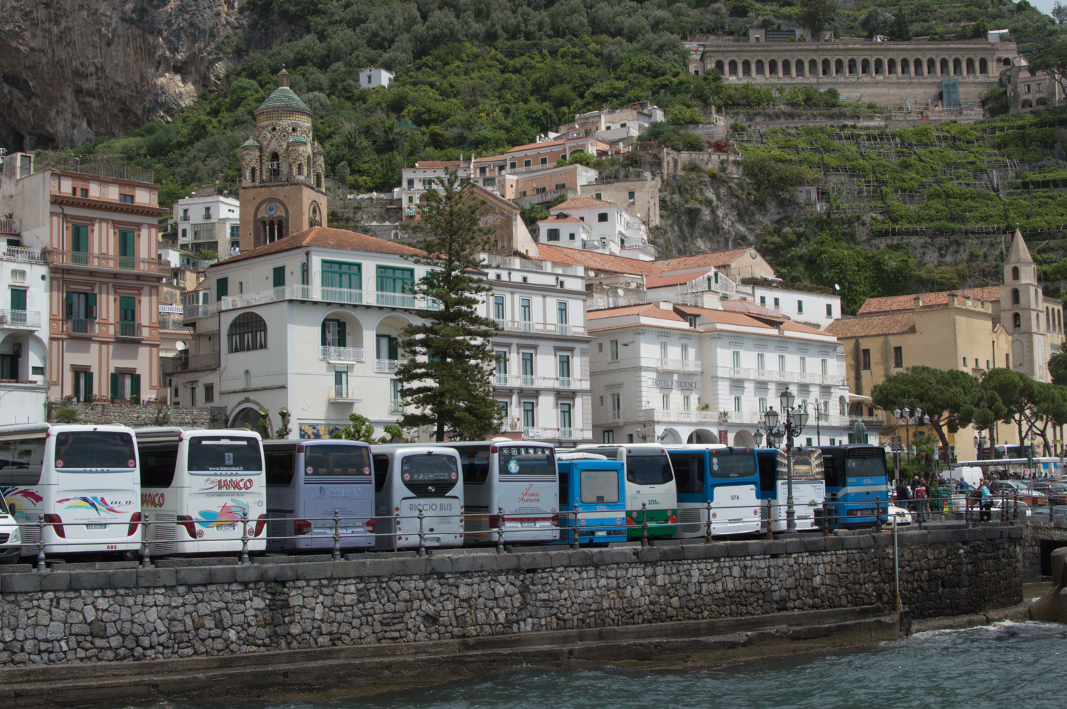 Buses on the Amalfi Coast