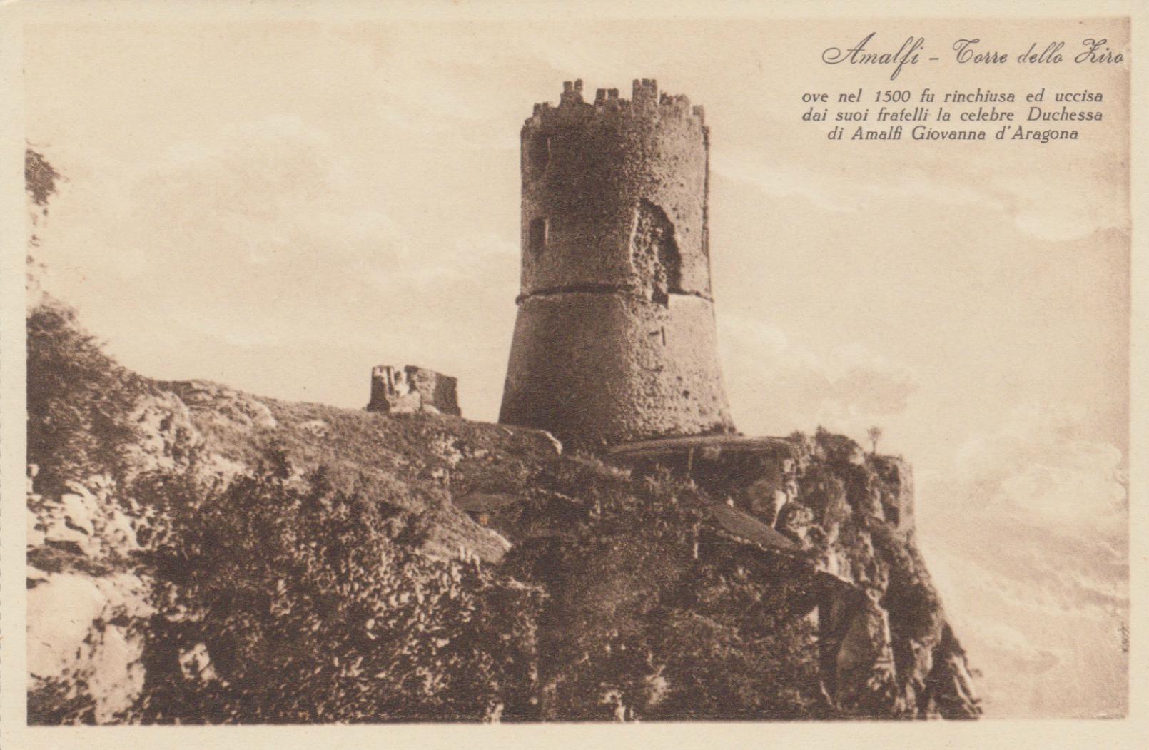 ciao-amalfi-torre-dello-ziro-postcard-black-white