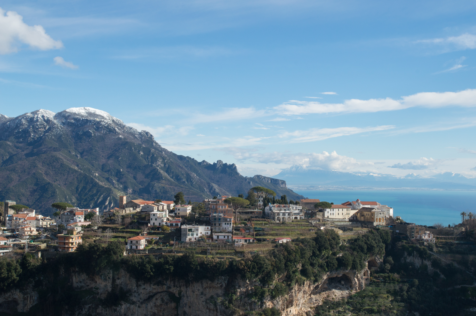 Dusting of Snow on the Amalfi Coast