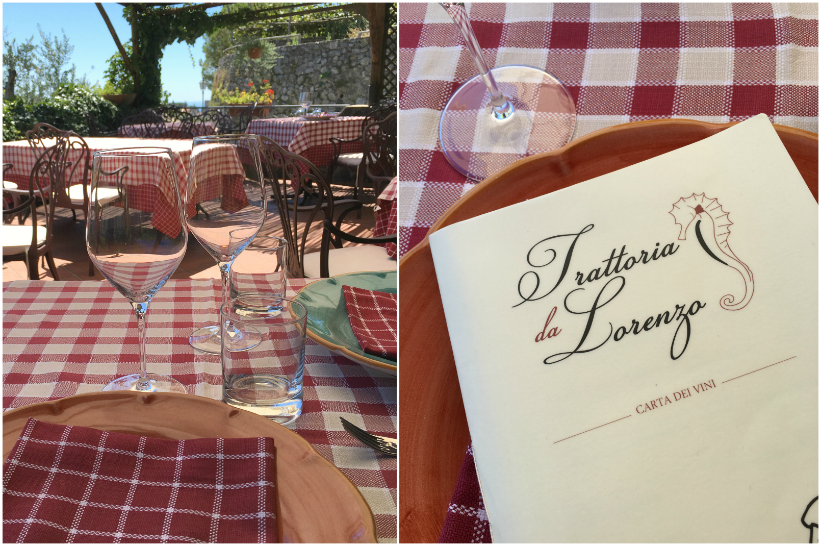 Trattoria da Lorenzo in Scala Wine List