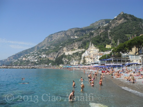 Ciao Amalfi Coast Travel First Swim Summer Beach