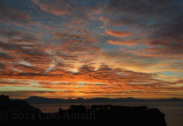 January Sunrise on the Amalfi Coast