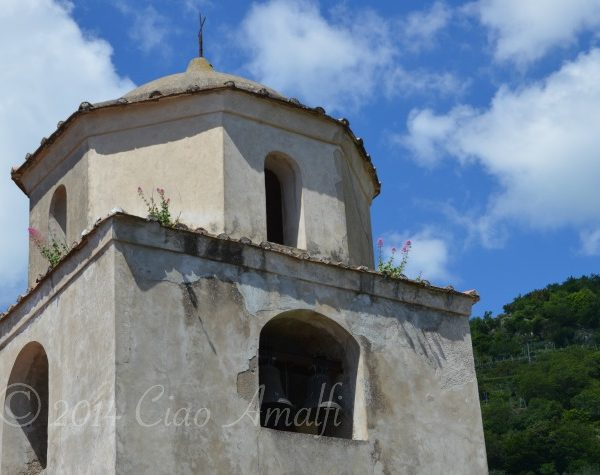 Amalfi Coast Travel Pink Flowers Campanile