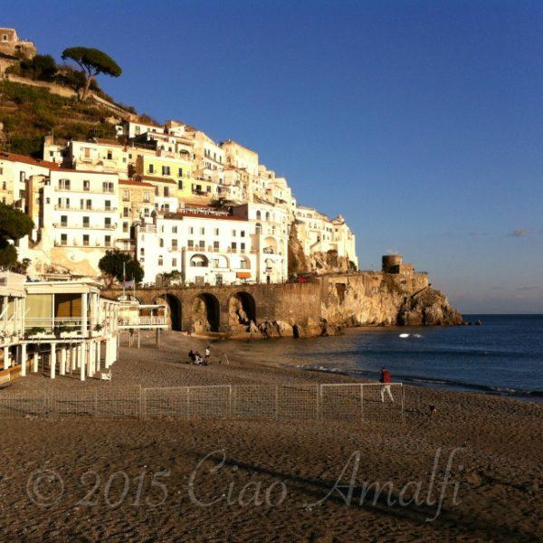 Amalfi Coast Travel Sunset Winter in Amalfi