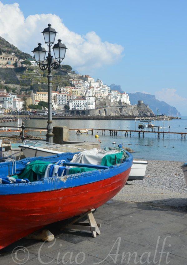 Amalfi Winter Blues (and Reds)