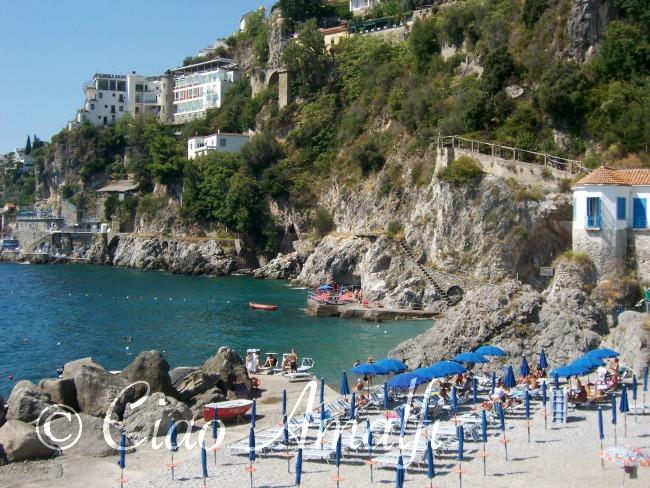 Amalfi Coast Beaches Lido Delle Sirene Beach In Near The Hotel Aurora